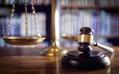 Scales of Justice and a Gavel